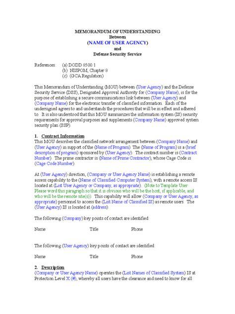 Memorandum Of Understanding Template Memorandum Of Understanding 6 Free Templates In Pdf