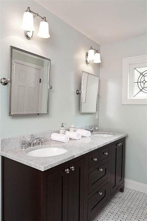 Blue and Brown Bathroom   Transitional   bathroom