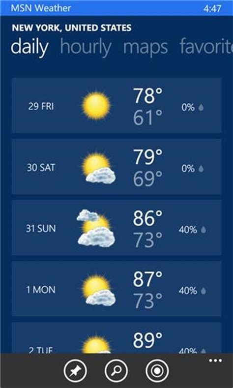 msn weather xap 3 1 6 0 free news weather app for