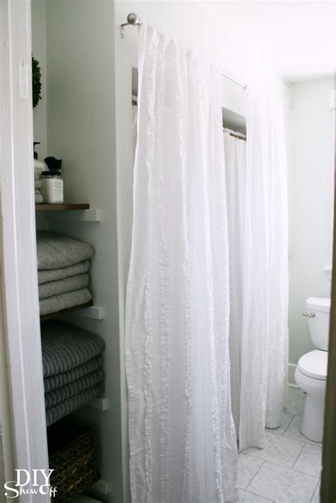 Tub Curtain by Bathroom Makeover Diy Show Diy Decorating And