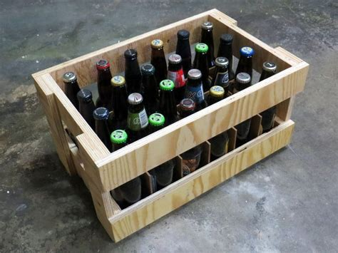plywood beer crate crates woodworking projects woodworking