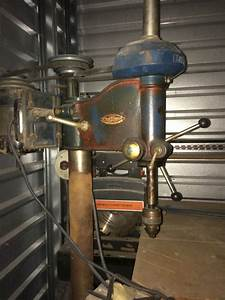 Vintage Drill Press And 2 Old Craftsmen Tablesaws