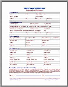 application form application form html template With commercial credit application template