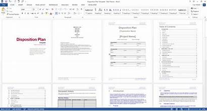 Plan Disposition Template Word Ms Templates Theme