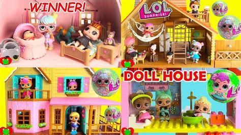 lol surprise dolls dollhouse stories compilation toys