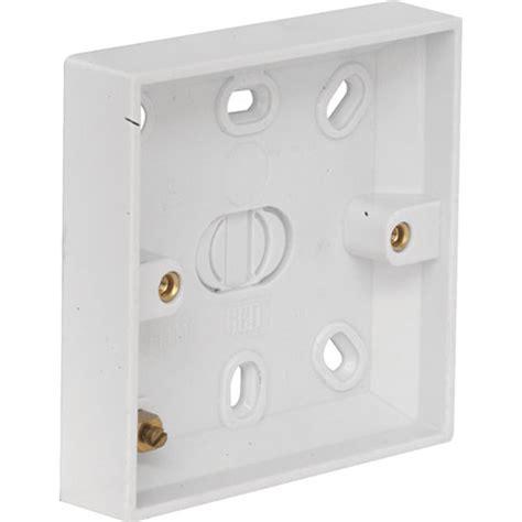 light switch pattress box 16mm plastic ref 1220