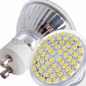 Ampoule Led 220v : 1 ampoule led maison gu10 a 60 led smd 220v couleur ~ Edinachiropracticcenter.com Idées de Décoration