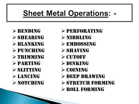 sheet metal process ppt