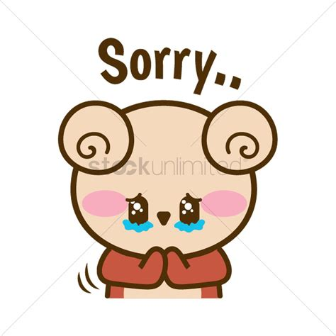 Sorry Clipart Feeling Sorry Vector Image 1957275