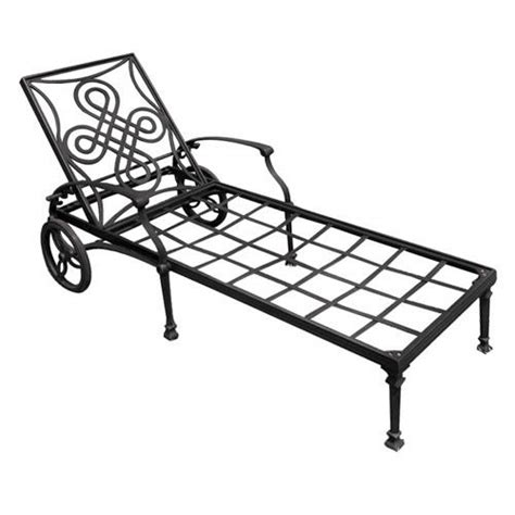 vienna cast aluminum outdoor chaise lounge chair outdoor