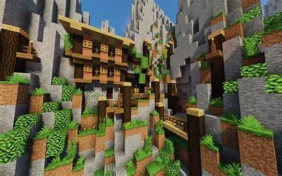 Village Minecraft Montagne Dans Magique France