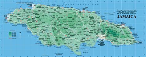 jamaica map map  jamaica  caribbean