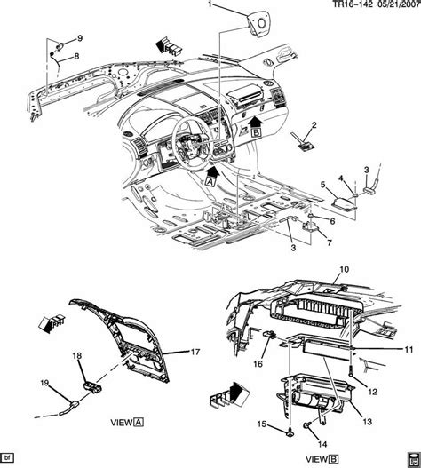 Air Bag Schematic Seat Sensor by 2007 09 Gmc Acadia Buick Enclave Chevy Traverse Front