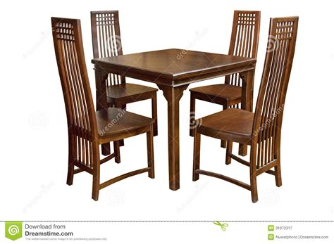 dining table and chairs isolated royalty free stock