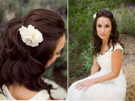 Wedding For Medium Hair : Most Excellent Wedding Half Updo Hairstyles For Ladies