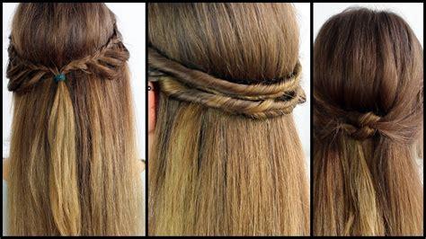 haare hochstecken schnell einfach halboffene haare schnell und einfach gestyled frisuren freitag