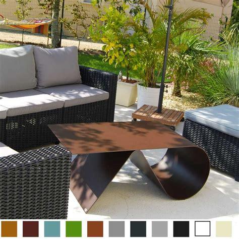 table basse de jardin de luxe en acier design goupille