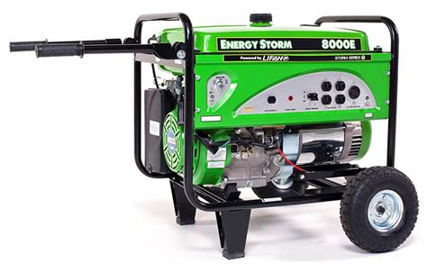 lifan energy storm es8000e electric start hp portable generator nashua sports cycle