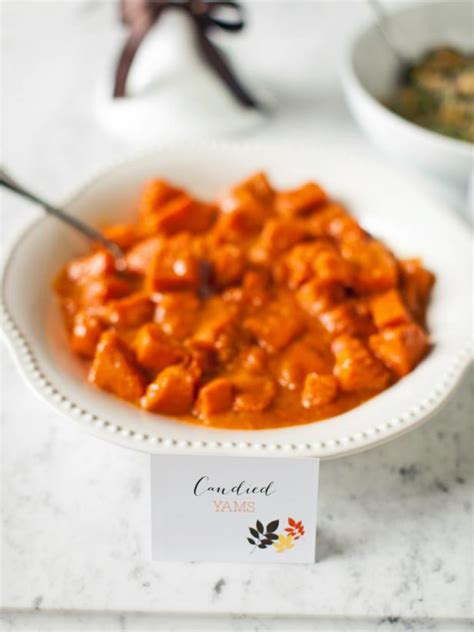 recipes for yams candied yams recipe hgtv