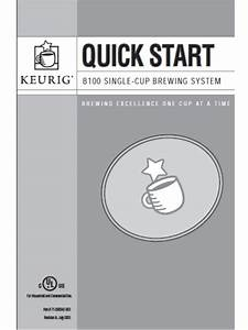 Keurig Manual B100 Quick Start Guide