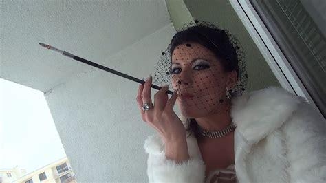 Milf Heavy Makeup Smoking Bare Image