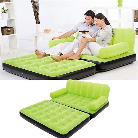 100 intex inflatable pull out double sofa bed two