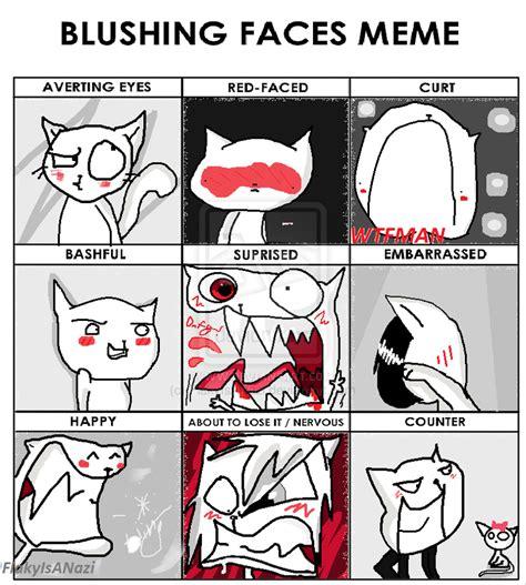 Blushing Memes - blushing face meme by flakyisanazi on deviantart