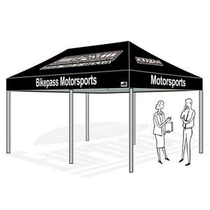 patio gazebo tent  commercial ez pop  canopy custom graphics logo printed ebay