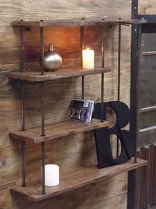 Etagere Industrielle Murale : etag re et biblioth que de style industriel micheli design ~ Preciouscoupons.com Idées de Décoration