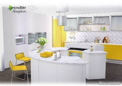SIMcredible Designs: Hemisphere kitchen ? Sims 4 Downloads