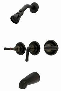 Oil Rubbed Bronze 3 Handle Combination Bathroom Tub