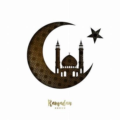 Ramadan Moon Mosque Vector Kareem Paper Cutting