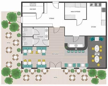 Cafe Restaurant Plans Plan Floor Outdoor Patio