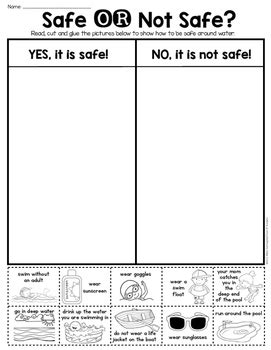 summer water safety sort grade amp kindergarten by 863 | original 2562519 3