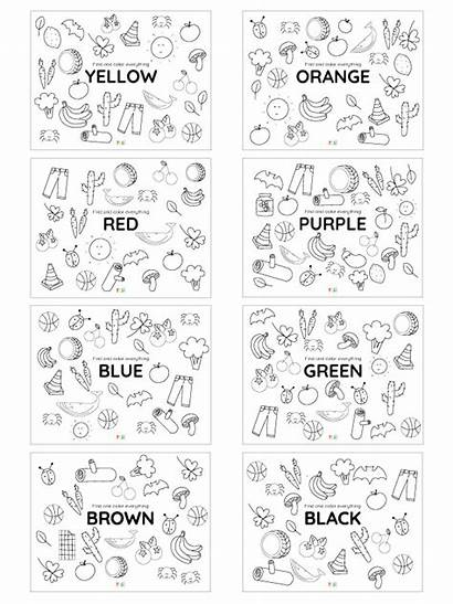Colors Coloring Printable Yes