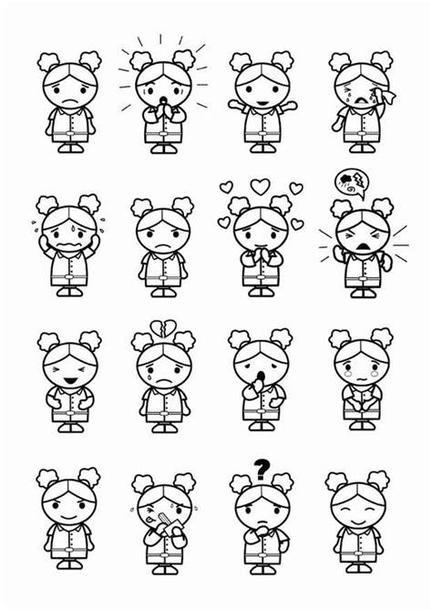Kleurplaten Emoties by Kleurplaat 16 Emoties Afb 23986 Images
