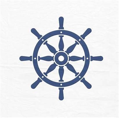 Wheel Ship Svg Nautical Clip Silhouette Cut