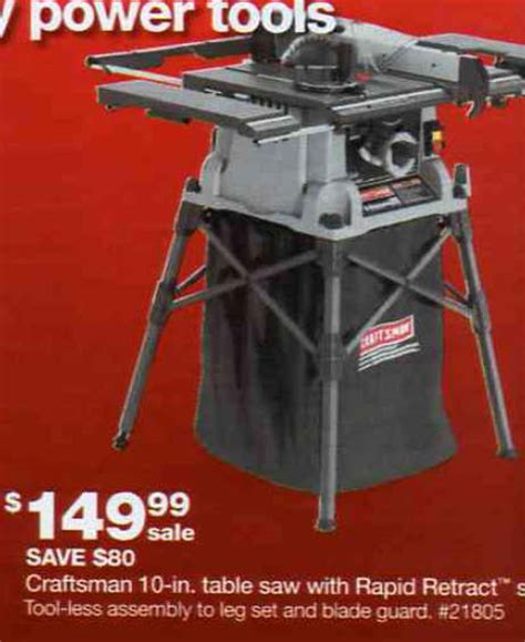 black friday table saw black friday deal craftsman 10 in table saw with rapid