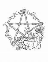 Pentagram Pentacle Sabbat Wicca Pyrography Sabbats sketch template