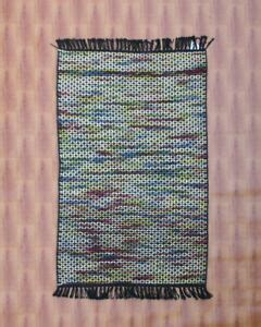 hand woven tribal  anatolian kilim turkish black area