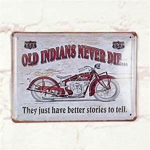 Plaque Vintage Metal : antique tin metal signs home pub bar wall decor motorcycle legend poster ebay ~ Teatrodelosmanantiales.com Idées de Décoration