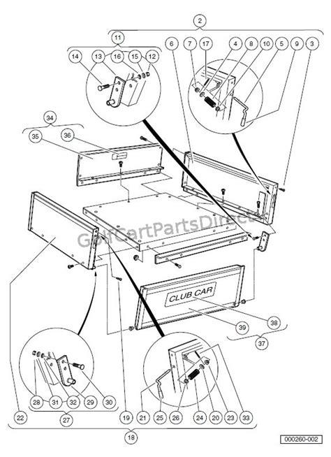 cargo box turfcarryall    xrt    golfcartpartsdirect