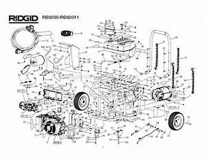 Ridgid Rd8000 Parts List And Diagram   Ereplacementparts Com