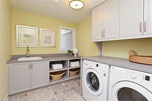 yellow laundry room cabinets design ideas With kitchen colors with white cabinets with utility room wall art