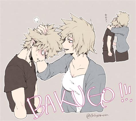 bakugou katsuki and bakugou mitsuki boku no hero academia drawn by chiyo rotsurechiriha