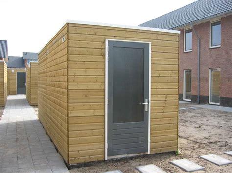 Garage Vroomshoop by Basis Berging Met Plat Dak De Groot Vroomshoop
