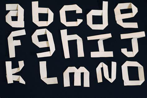 Paper font on Behance