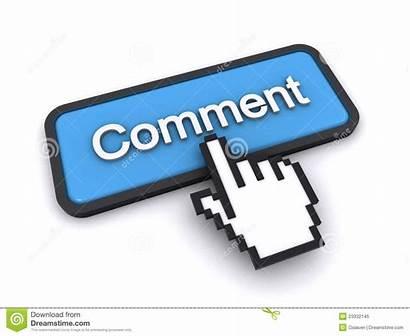 Comment Button 3d Render Royalty Finger Dreamstime