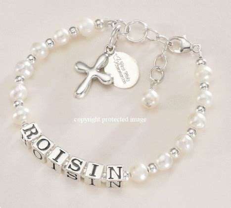 gifts for communion girl luxury name bracelet with cross and holy
