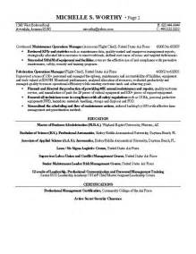 quality manager resume exles quality manager resume exle